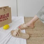 夏季涼拖鞋女外穿厚底2019新款時尚百搭涼拖 週年慶降價