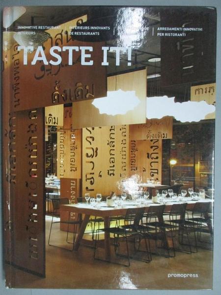 【書寶二手書T8/設計_ZJG】Taste It!: Innovative Restaurant Interiors_P