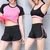 運動短褲 夏季防走光假兩件大碼寬鬆健身瑜伽褲跑步速干高腰運動短褲女