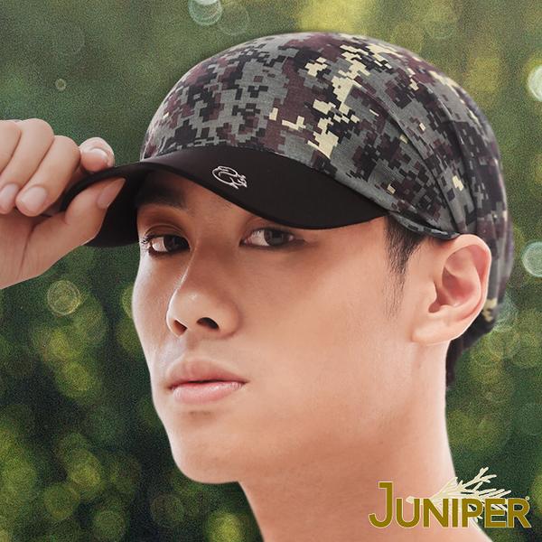 運動帽子-彈力吸濕排汗慢跑馬拉松單車針織軟眉休閒帽J7517 JUNIPER