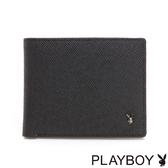 PLAYBOY- 短夾 MODE系列-經典黑