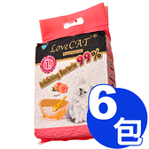 【寵物王國】【免運費】新寵愛-水蜜桃環保豆腐貓砂(真空包)6L x6包組 (010390)