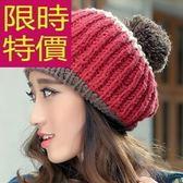 毛帽-羊毛清新禦寒針織韓流女帽子5色63w4[巴黎精品]