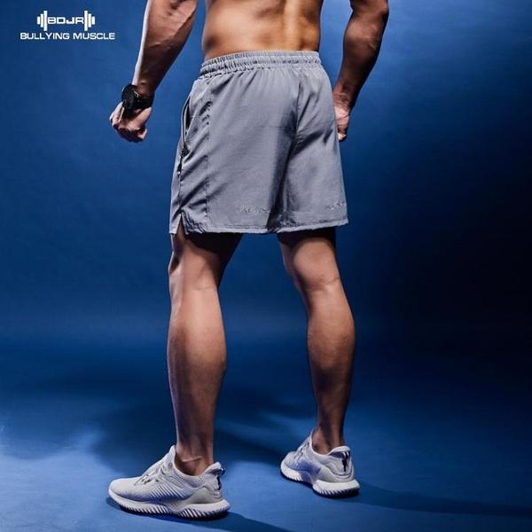 霸道肌肉運動短褲寬鬆速干男夏季薄款休閒跑步訓練健身三分褲 聖誕節全館免運