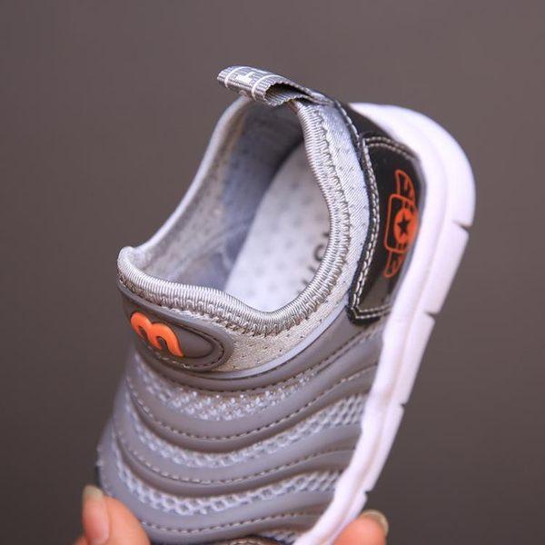 夏款兒童鞋男寶寶運動鞋軟底毛毛蟲網鞋新款