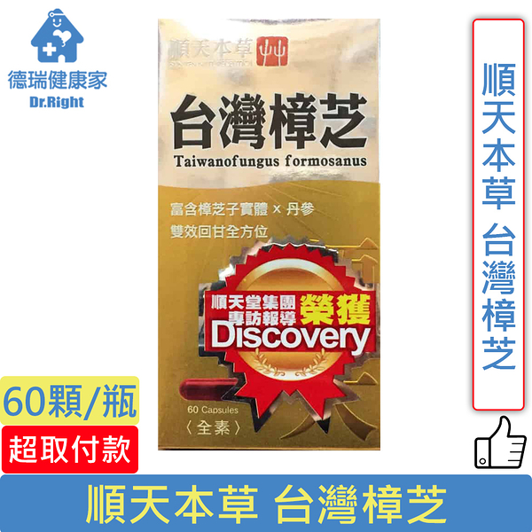 順天本草 台灣樟芝 60顆/瓶◆德瑞健康家◆