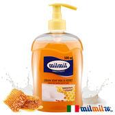 【義大利MILMIL】蜂蜜牛奶柔嫩液態皂500ml