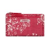 【Cath kidston】WASHED ROSE 萬用雙層零錢卡包(紅)