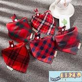 寶寶口水巾三角巾嬰兒純棉圍嘴新生兒童圍巾【風鈴之家】