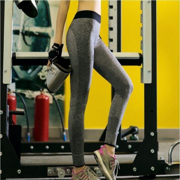 運動褲【TPS003】運動型彈性瑜珈褲 運動型 九分褲 長褲 高彈力 瑜珈褲 透氣 吸汗 運動褲-123ok