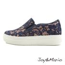 【Joy&Mario】高雅蕾絲休閒厚底鞋 - 82062W NAVY 美碼5.5