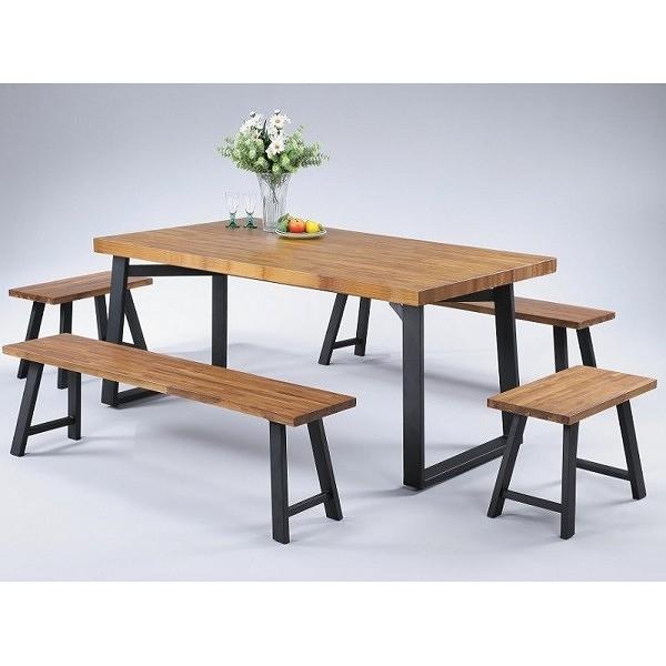 餐桌 FB-809-1 喬丹正柚木4.4尺長方桌(不含椅子) 【大眾家居舘】