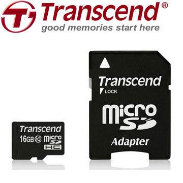 創見 Transcend MicroSDHC 16G Class 10 UHS-1 30MB/s(200X) 記憶卡(含轉卡)