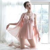 【GZ K2】睡衣 兩件式雪紡薄紗透膚情趣睡衣 居家服 情人節禮物