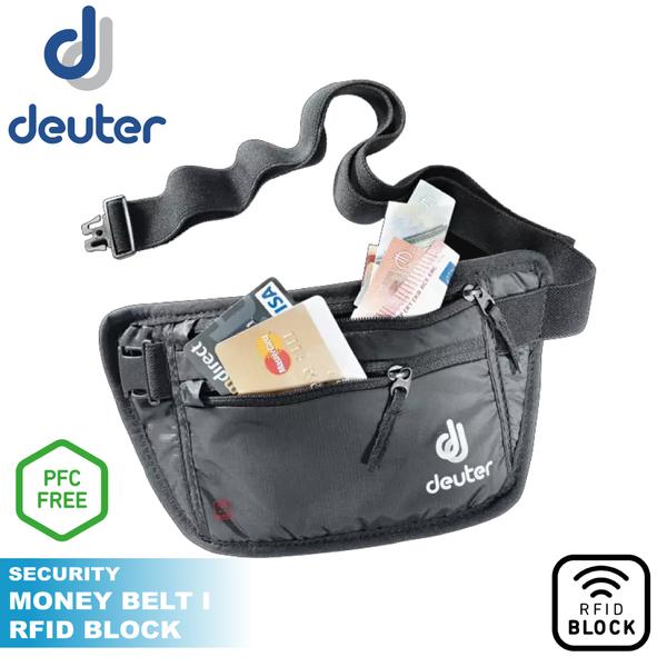 【Deuter 德國 BELT I RFID隱藏式錢包《黑》】3942720/防盜包/貼身包/運動腰包旅遊收納
