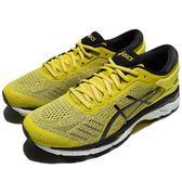 Asics 慢跑鞋 Gel-Kayano 24 黃 黑 避震透氣 男鞋 亞瑟士 運動鞋【PUMP306】 T749N-8990