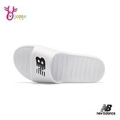 New Balance拖鞋 男女鞋 運動拖鞋 防水拖鞋 室內拖鞋 室外拖鞋 簡約 P8562#白色◆OSOME奧森鞋業