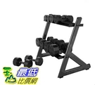 [COSCO代購] W1327339 Cap Barbell 黑色包膠啞鈴組90.7 kg (含啞鈴架)