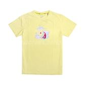 Asics 短袖T恤 JSY Graphic SS T 2 黃 白 男款 櫻花 塗鴉 亞瑟士 運動休閒 【PUMP306】 2191A254751