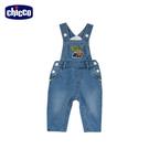 chicco-工程車-水洗針織牛仔吊帶長褲
