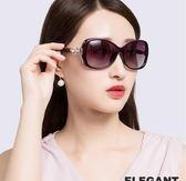 時尚偏光太陽鏡女潮人氣質簡約圓臉個性防紫外線優雅墨鏡【無趣工社】