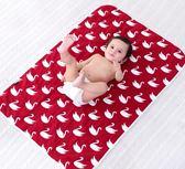 隔尿墊 織棉兔新生嬰兒隔尿墊純棉紗布寶寶兒童防水可洗透氣月經大姨媽墊 綠光森林