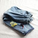 純棉牛仔褲寬鬆顯瘦哈倫九分褲-設計家K3...