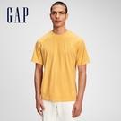 Gap男裝 基本款素色圓領短袖T恤 680985-金黃色