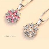 S925銀 優雅的名媛氣質 花朵項鍊-維多利亞1808115