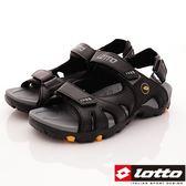 【LOTTO】-探險家戶外涼鞋款-LT7AMR5002-黑色-男段-0
