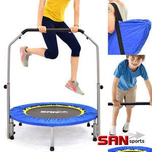 跳跳樂40吋扶手折疊彈跳床(贈送背袋)跳跳床彈簧床.彈跳樂彈跳器.平衡感練習【SAN SPORTS】