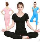 夏季健身房跑步運動短袖瑜珈服套裝Eb273『M&G大尺碼』
