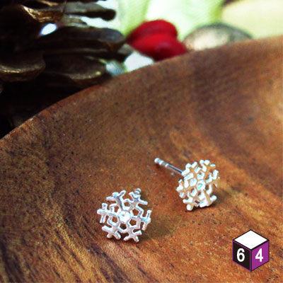 冰雪奇緣 耳環 925純銀雪花耳環 聖誕禮物
