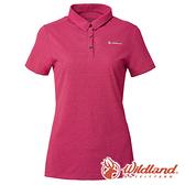 【wildland 荒野】女 POLARTEC POWER DRY上衣『桃紅』P1603 短袖 排汗 休閒 戶外 登山