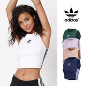 【GT】Adidas Originals 藍粉紫綠 無袖T恤 女款 短版 背心 運動 休閒 彈性 上衣 短T 愛迪達 三葉草 Logo