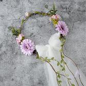 新娘頭飾森系韓式仙美花環伴娘花童髪飾