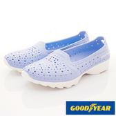 【GOODYEAR】Q彈防水洞洞透氣機能鞋(粉藍)-WP82826(22cm-25.5cm)
