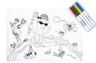 英國mombella 海底總動員塗鴉矽膠餐墊 (含四色塗鴉筆)[衛立兒生活館]