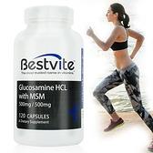 【南紡購物中心】【美國BestVite】必賜力葡萄糖胺+MSM膠囊1瓶 (120顆)