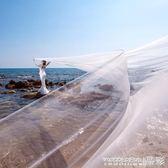 新娘頭紗婚紗韓式素紗頭飾超長拖尾10米裸紗108 限時搶購