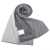 CalvinKlein 雙色LOGO圍巾(淺灰色)103213-7