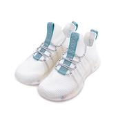 潮皇 飛織拚色休閒運動鞋 白藍 A07 男鞋