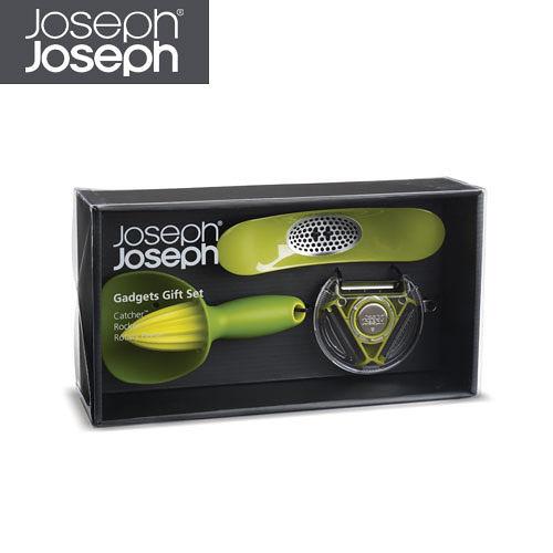 (福利品) Joseph Joseph Gadget 削皮榨汁組(綠3入)