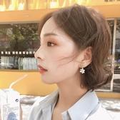 耳環2020新款個性潮S925純銀防過敏小清新花朵耳釘女韓國耳環氣質耳飾 新品
