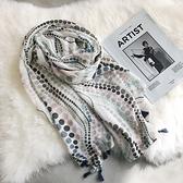 新款時尚棉質柔軟絲巾圍巾 文藝空調披肩 防曬披肩74