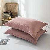 枕頭套枕套純棉加厚全棉一對裝家用忱頭外套網紅款夏天ins素色