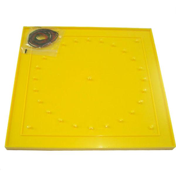 【台灣製USL遊思樂】釘板 / 27cm雙面釘板(黃,1pcs)