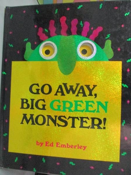 【書寶二手書T7/少年童書_XFO】Go away, big green monster!_Emberley, Ed