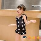兒童泳衣女童游泳衣連體可愛寶寶比基尼泳裝【淘嘟嘟】