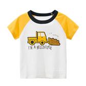 黃色推土機短袖T恤上衣 T-shirt 童裝